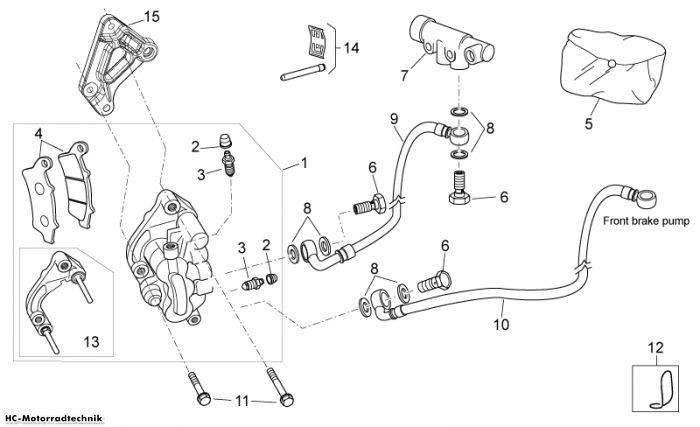 Aprilia Vorderradbremszange Atlantic Sprint 400/500