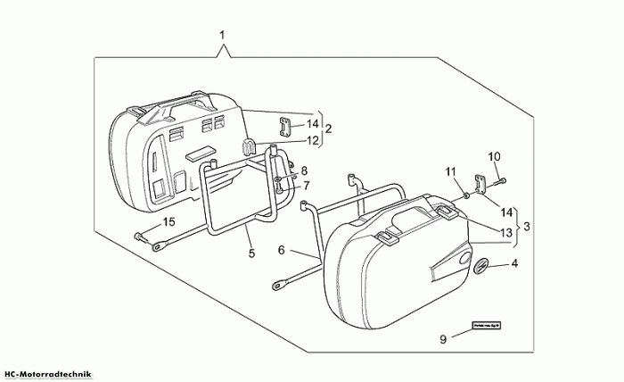 Moto Guzzi Side cases California EV/EV Touring/80 1100