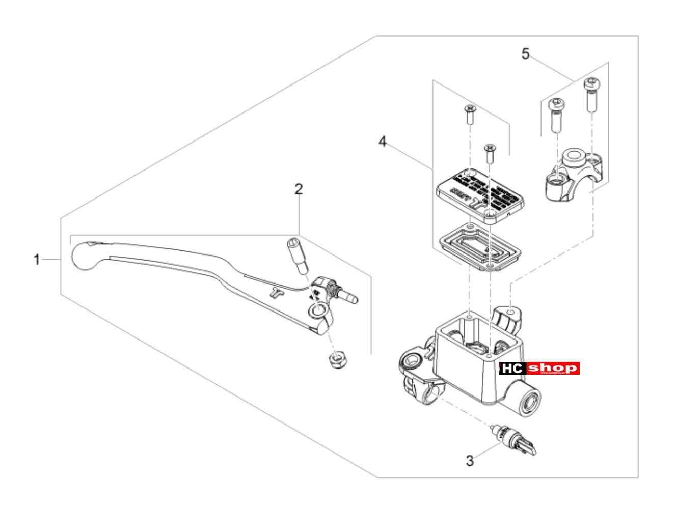 Aprilia Tuono 125 4T E4 ABS Bremsanlage