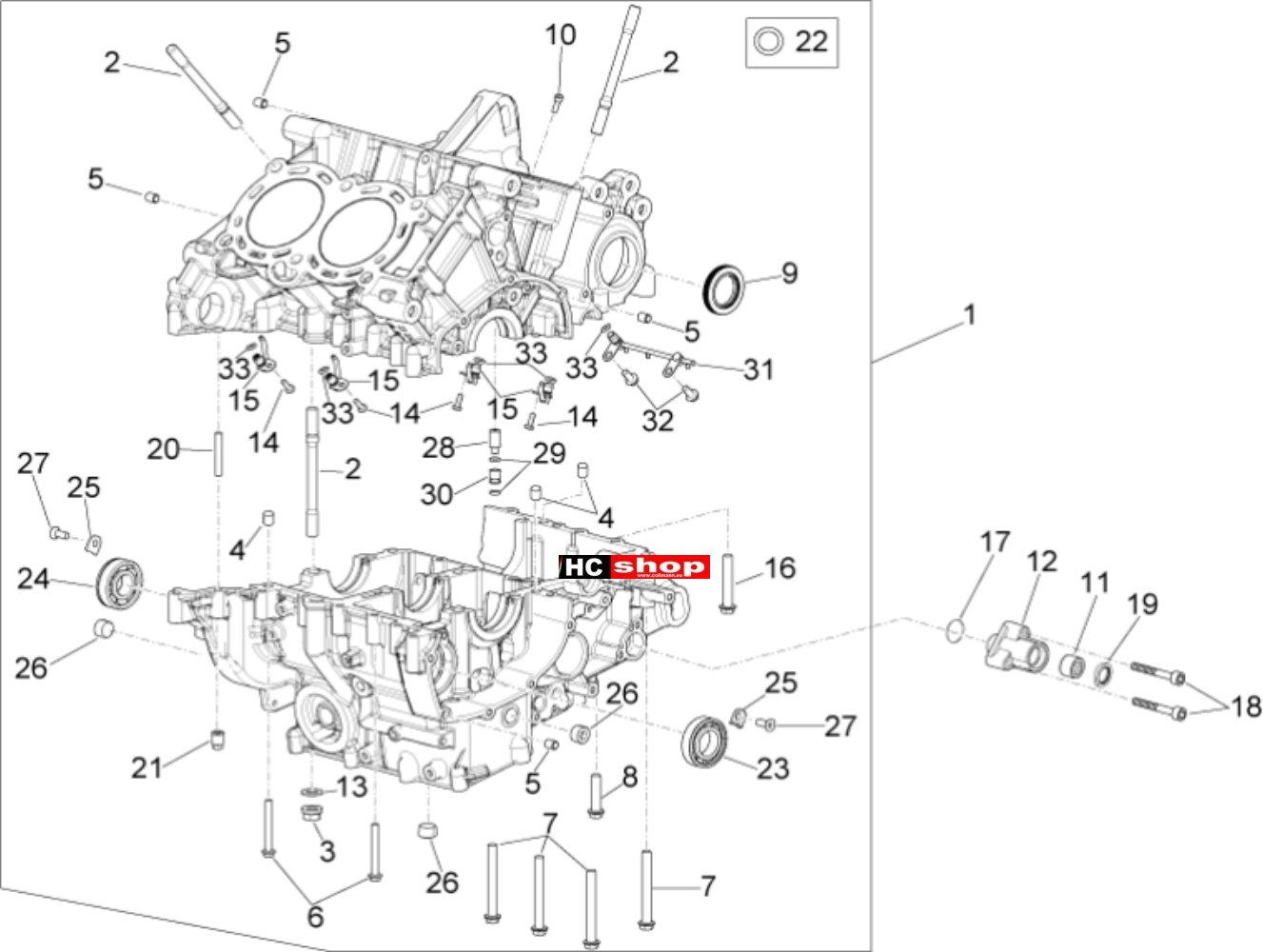 Aprilia Rsv 4 Rf E4 Abs Motor Gehause I