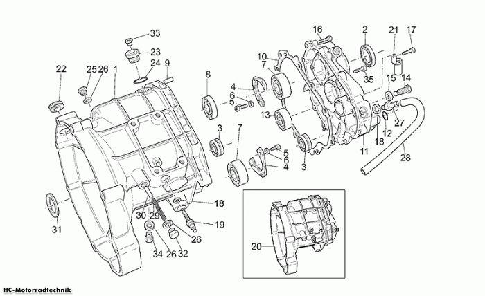 Moto Guzzi Getriebegehäuse California Special Sport 1100