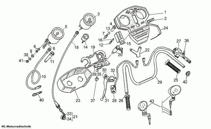 Moto Guzzi Instr.brett-Steuerungen California II 1000
