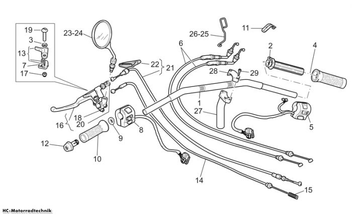 Moto Guzzi Lenkst. California Special Sport/Al. PI 1100