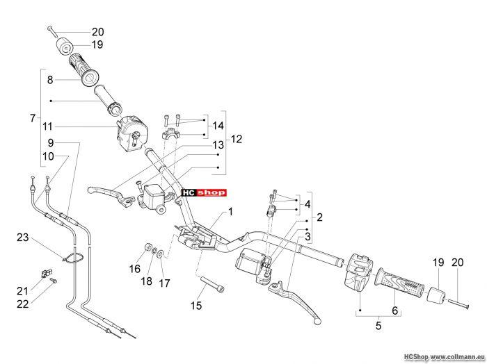 Piaggio Lenker Hauptbremszylinder X10 125 4t 4v i.e. e3