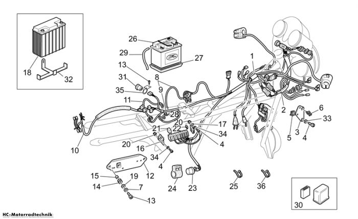 Moto Guzzi Elek. Anlage II California EV PI Cat. 1100