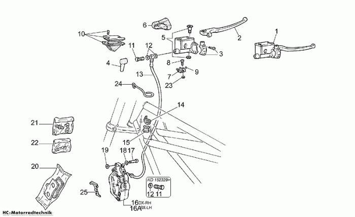 Moto Guzzi Bremsanlage Vorn California Jackal 1100