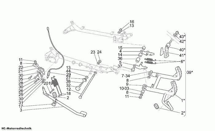 Moto Guzzi Hauptständer California Jackal 1100