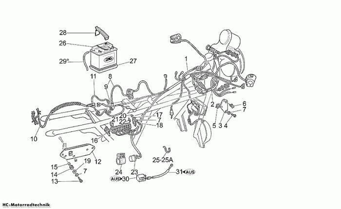 Moto Guzzi Elektrische Anlage I California Jackal 1100