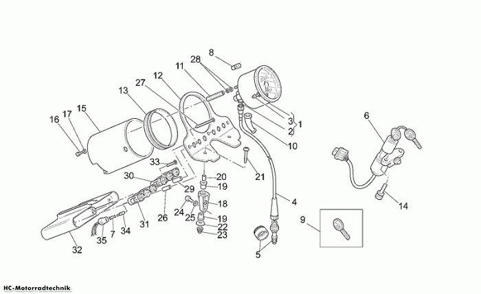 Moto Guzzi Instrumententafel California Stone 1100