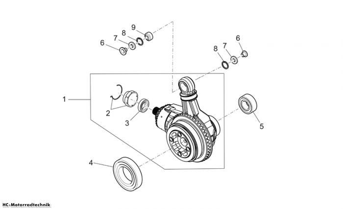 Moto Guzzi Getriebe kpl.-Teilerradsatz Griso V IE 1100