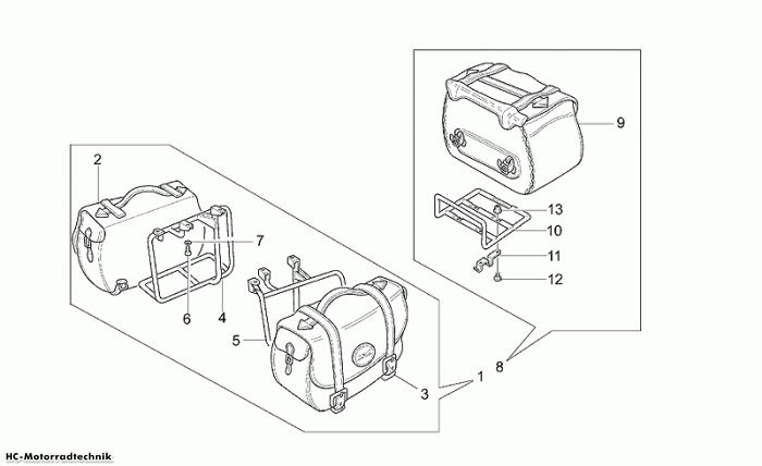 Moto Guzzi Seitenta. Leder opt. California Jackal 1100