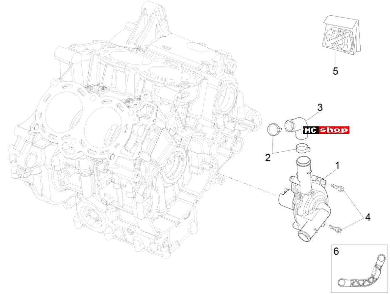Aprilia RSV 4 1000 RR E4 ABS Motor Wasserpumpenritzel
