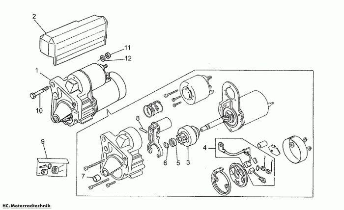 Moto Guzzi Startermotor California III Iniezione 1000