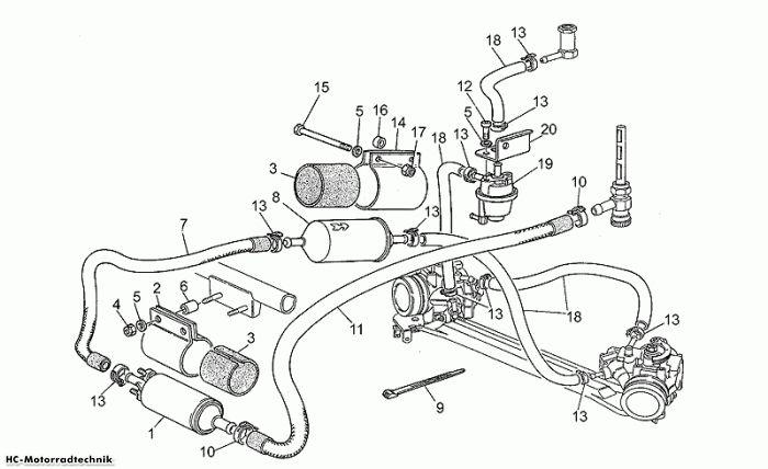 Moto Guzzi Einspeisung Kraftstoff Daytona Racing 1000