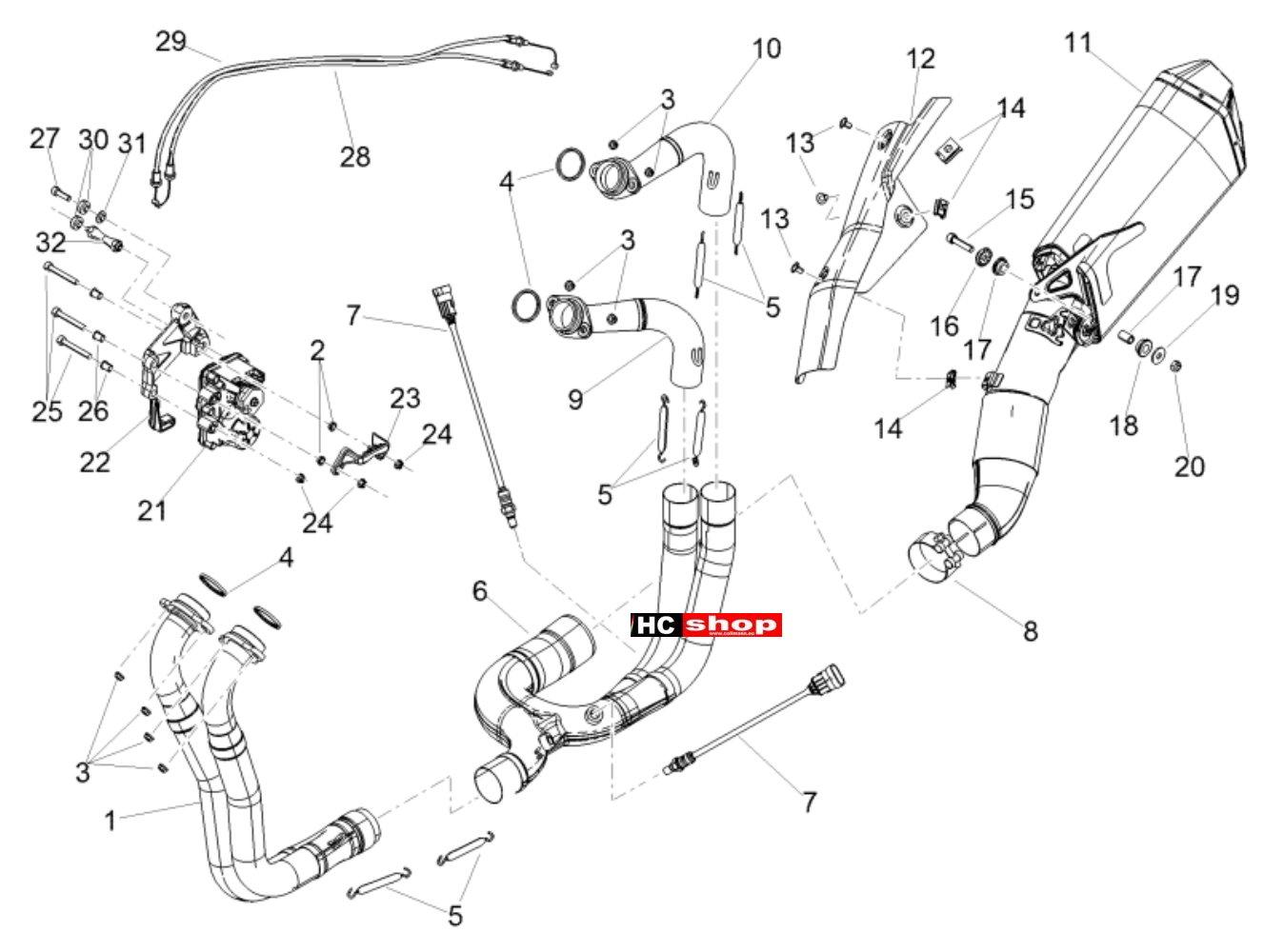 Aprilia Tuono V4 1100 Factory E4 ABS Rahmen u. Aufbau