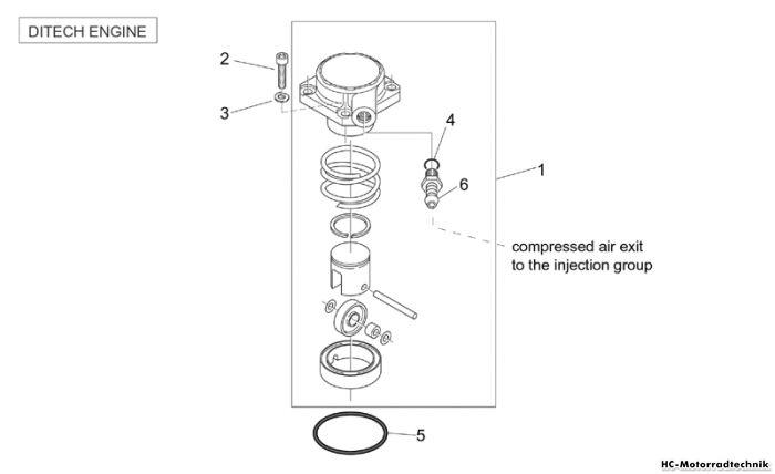 Aprilia Luftkompressor (Ditech) SR Di-Tech+Carburatore 50