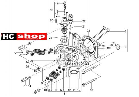Piaggio Beverly 350 E4 Sport Touring Motor Einheit Kopf
