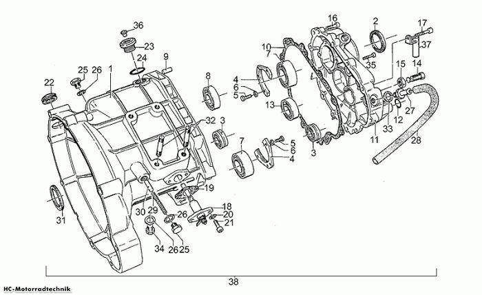 Moto Guzzi Getriebegehäuse California III Iniezione 1000