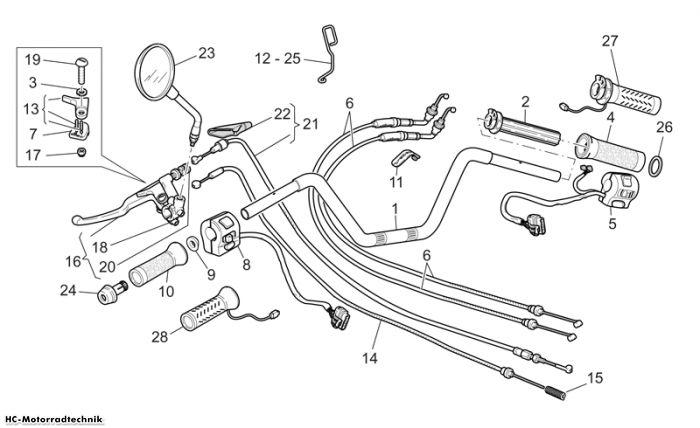 Moto Guzzi Lenkst.- Schalt. California EV PI Cat. 1100