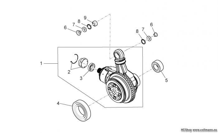 Moto Guzzi Getriebe kpl.-Teilerradsatz Norge 1200 IE 8V