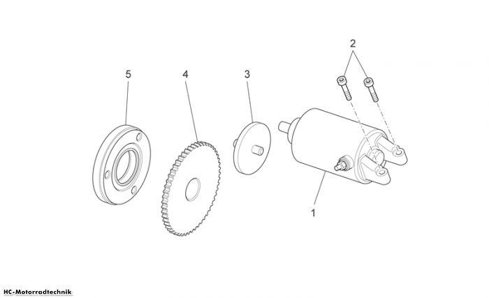 Aprilia Startermotor Scarabeo Light Carb. 125/200