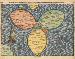1568 German world map