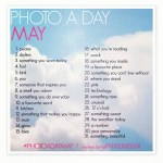 The May Photo-a-Day List is Out