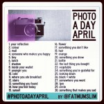 #PhotoadayApril List