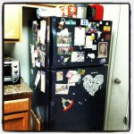 Day 11: Kitchen. The excitement that is our refrigerator.  Woot.