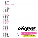 The August Photo-a-Day List