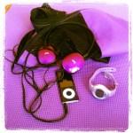 Day 11: Purple. I own a lot of purple workout stuff.