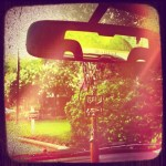 Day 23: Mirror. Looking through my rear view mirror at the storm that just passed.
