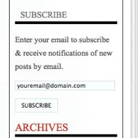 Subscribe-widget