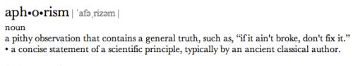 definitionofaphorism