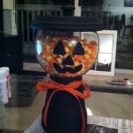 DIY Terra Cotta Candy Jar Jack-O'-Lantern