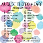 August 2014 Photo-a-Day List