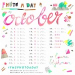 October 2014 Photo-a-Day List