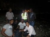 Parte del equipo y representantes de instituciones que ayudaron en el rescate de los huevos.