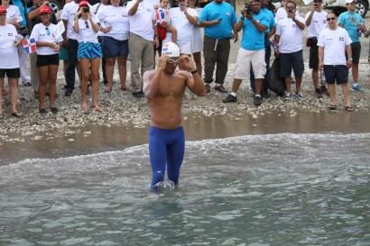 Marcos inició el recorrido aproximadamente a las 12:30 del mediodía en Palmar de Ocoa. FOTO: Oliver Olivo.