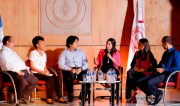 En el panel con estudiantes, se seleccionó a un representante por cada área académica.