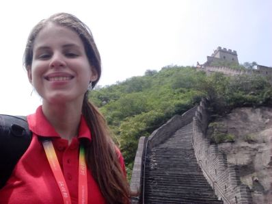 Selfie en la Muralla China.