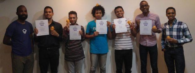 Fotos de los participantes del Android Study Jam del INTEC