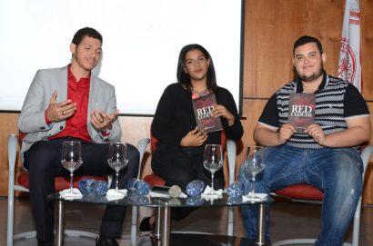 Juilo Olivero junto a Madel Márquez y Naief Luna.