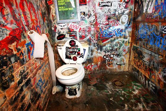 CBGB Bathroom Art