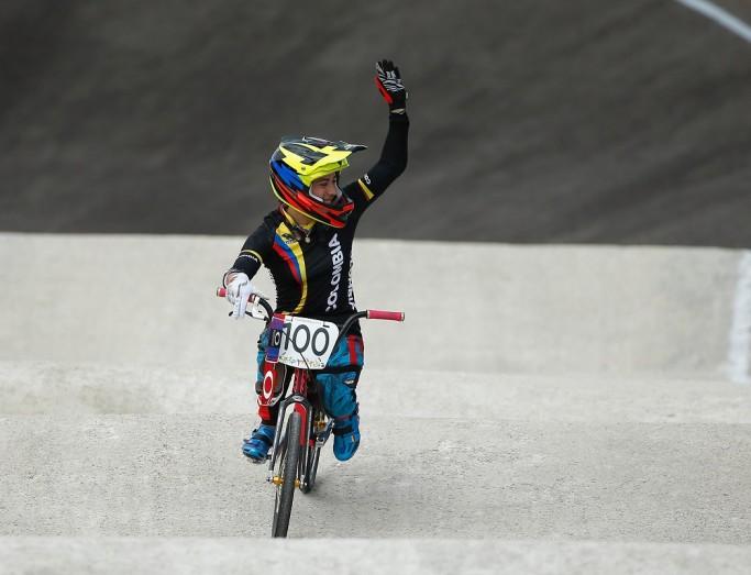 Mariana Pajón wereldkampioen tijdrijden op WK BMX in Zolder