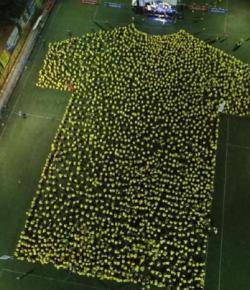 Bucaramanga fans behalen een nieuw Guinness World Record