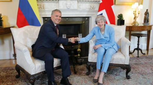 President Duque ontmoet Britse premier Theresa May