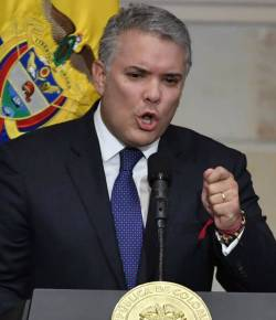 Duque sluit militaire interventie tegen Venezuela niet uit