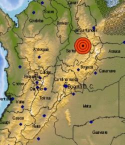 Departement Santander opgeschrikt door aardbeving (5.1)