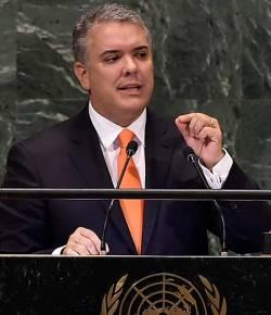 President Duque roept de internationale gemeenschap op om de drugshandel te bestrijden